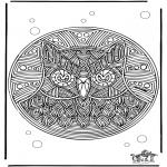 Mandala-malesider - Free coloring pages Mandala