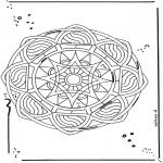 Mandala-malesider - Free coloring pages mandala star