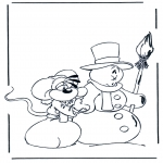 Vinter-malesider - Free coloring pages mandala winter