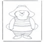 Free coloring pages Paddington bear