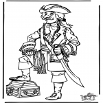 Diverse - Free coloring pages pirate