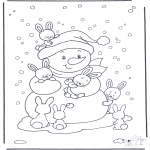 Vinter-malesider - Free coloring pages rabbit