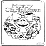 Børne-malesider - Free coloring pages sesame streat