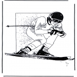 Diverse - Free coloring pages skiing