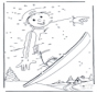 Free coloring pages Snowboarding