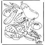 Diverse - Free coloring pages vegatables