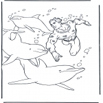 Dyre-malesider - Free coloring pictures dolphins