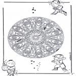 Mandala-malesider - Geo mandala