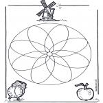 Mandala-malesider - Geomandala 1