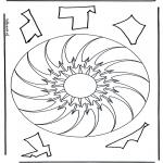 Mandala-malesider - Geomandala 10