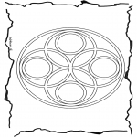 Mandala-malesider - Geomandala 6