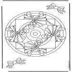 Mandala-malesider - Geomandala 9