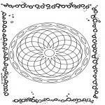 Mandala-malesider - Geometric mandala 1