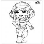 Børne-malesider - Girl 3