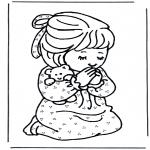Bibel-malesider - Girl prays