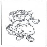 Børne-malesider - Girl with dress