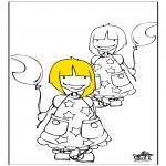 Børne-malesider - Girls 1