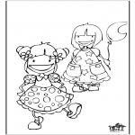Børne-malesider - Girls 2