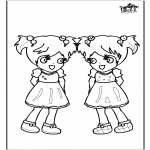 Børne-malesider - Girls 3