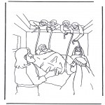 Bibel-malesider - Haealing of the paralysed man 1