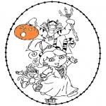 Tema-malesider - Halloween borduurkaart