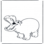 Dyre-malesider - Happy hippo