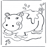Dyre-malesider - Hippo in the water