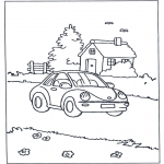 Børne-malesider - House and car
