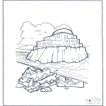 Bibel-malesider - House on sand and rock