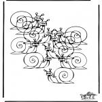 Håndarbejde - How many snails