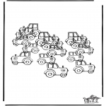 Håndarbejde - How many tractors