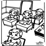 Børne-malesider - In the clasroom 2