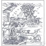 Bibel-malesider - In the manger