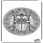 Mandala-malesider - Insect mandala 1