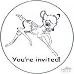 Håndarbejde - Invitation Bambi
