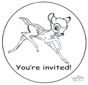 Invitation Bambi