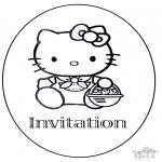 Håndarbejde - Invitation birthday