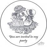 Håndarbejde - Invitation Sarah Kay 2