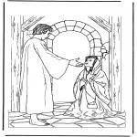 Bibel-malesider - Jesus and the ill woman