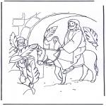 Bibel-malesider - Jesus entry into Jerusalem 4