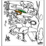 Bibel-malesider - Jesus entry into Jerusalem 7