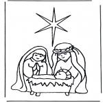 Bibel-malesider - Jesus in crib