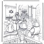 Bibel-malesider - Jesus in temple