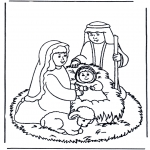 Bibel-malesider - Jesus in the manger
