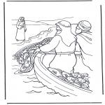 Bibel-malesider - Jesus near the water