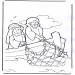 Bibel-malesider - Jesus on boat