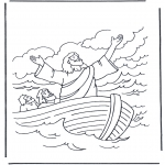 Bibel-malesider - Jesus on the water 1