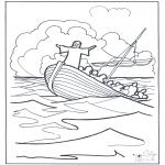 Bibel-malesider - Jesus on the water 2