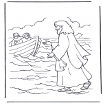 Bibel-malesider - Jesus walking on water