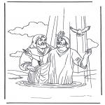 Bibel-malesider - Jezus en Johannes de Doper
